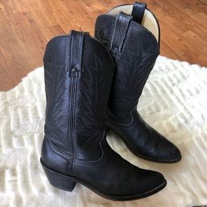 Durango Black leather cowgirl boots size 7.5 M